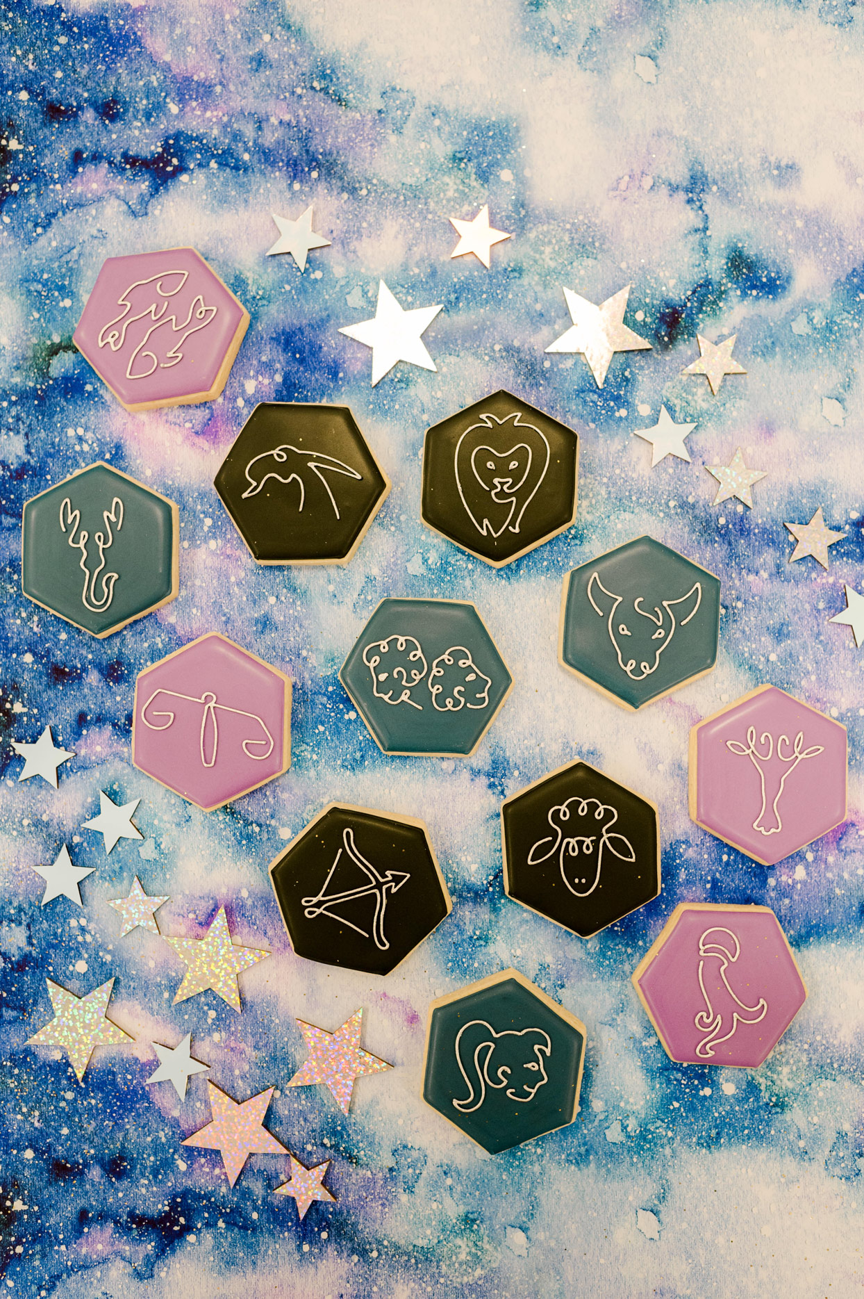 astrology symbol designed cookies