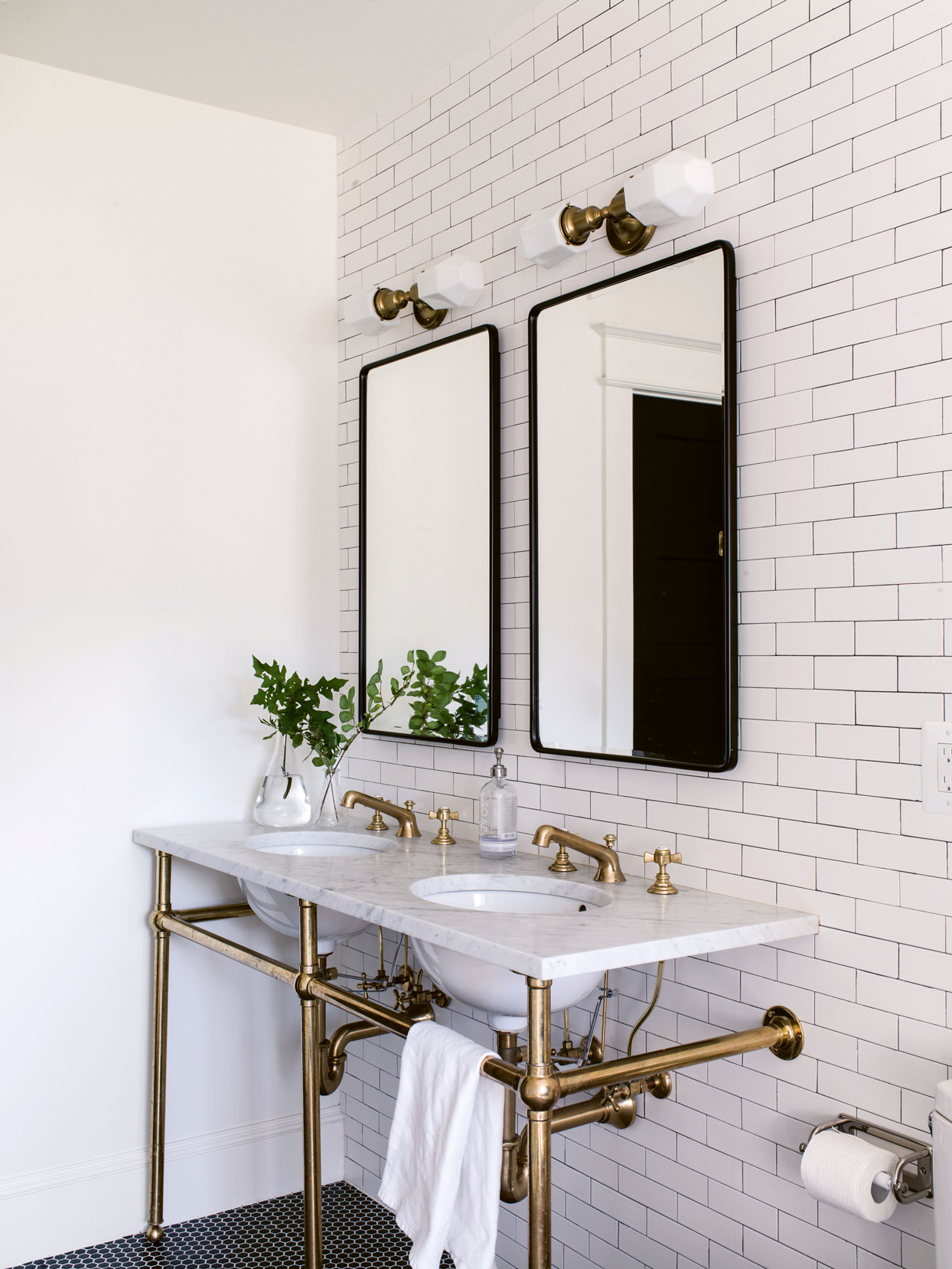 brass-and-marble washstand
