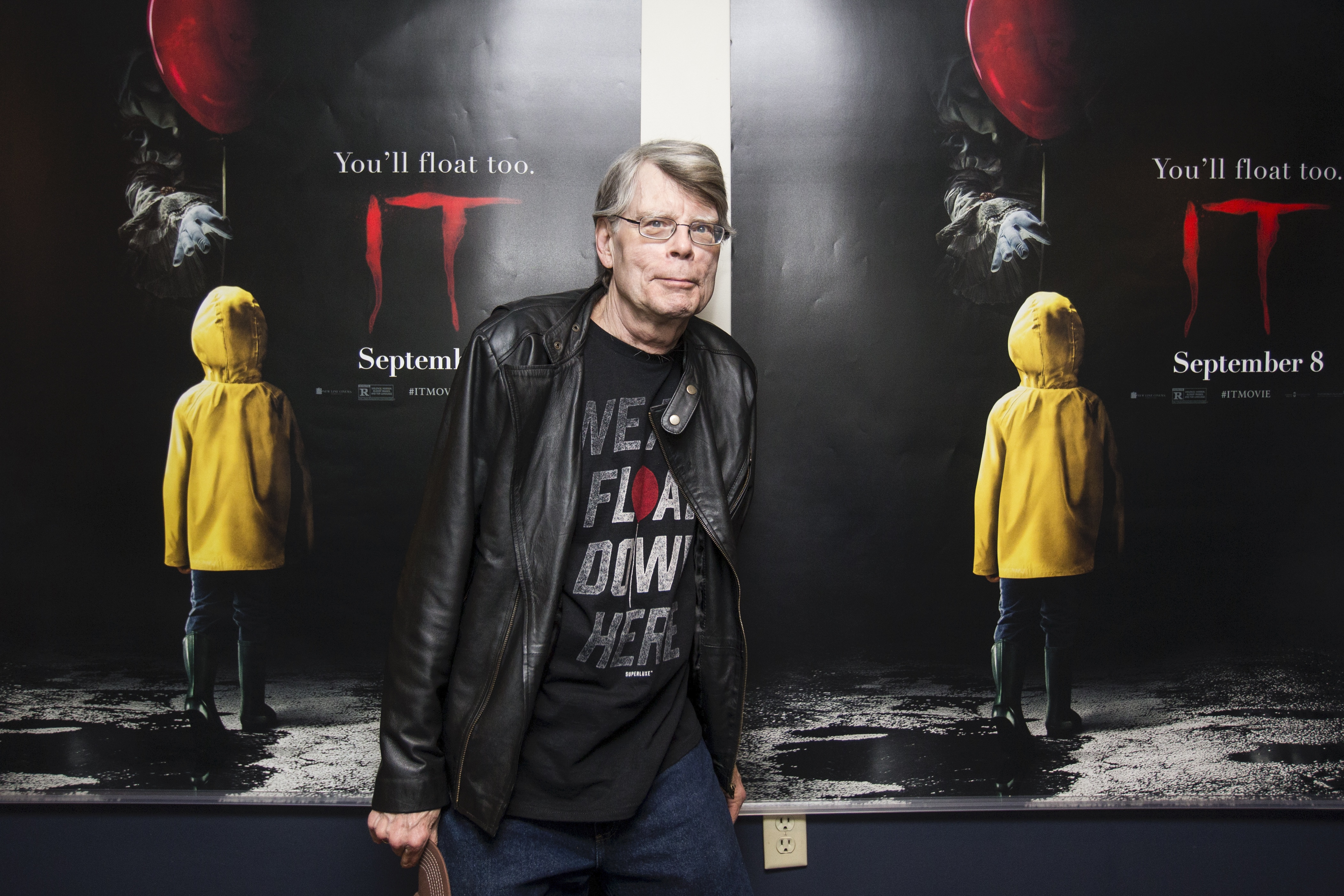 """Stephen King at special screening of """"It"""""""