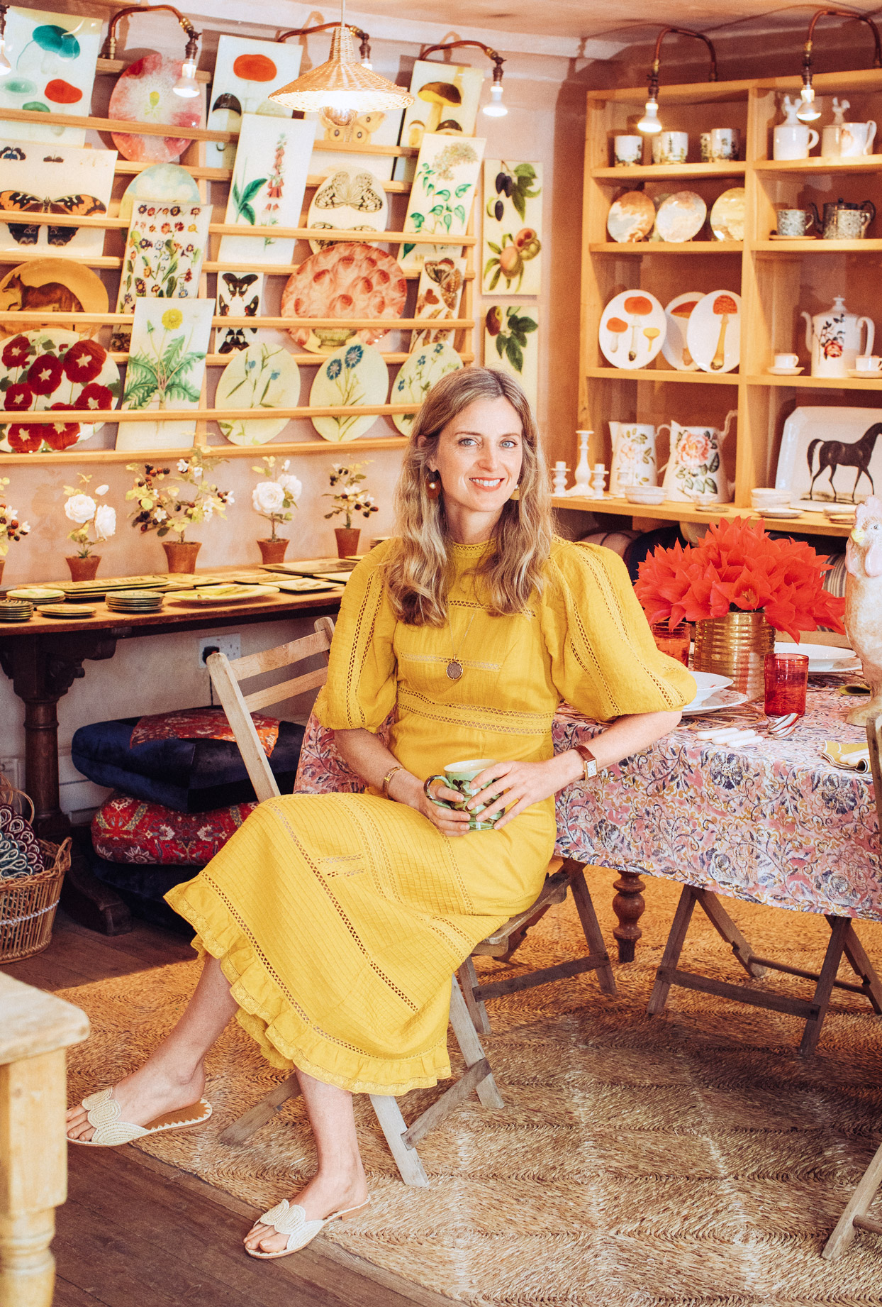 Amanda Brooks' Personal Style Is a Cross Between Pastoral Chic and Global Bohemian