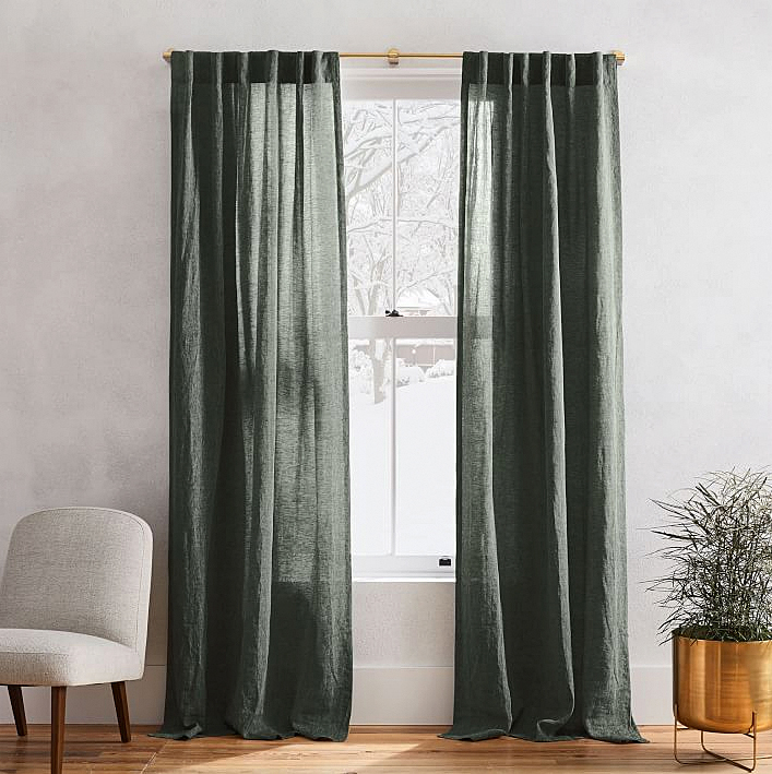 interior design with curtains