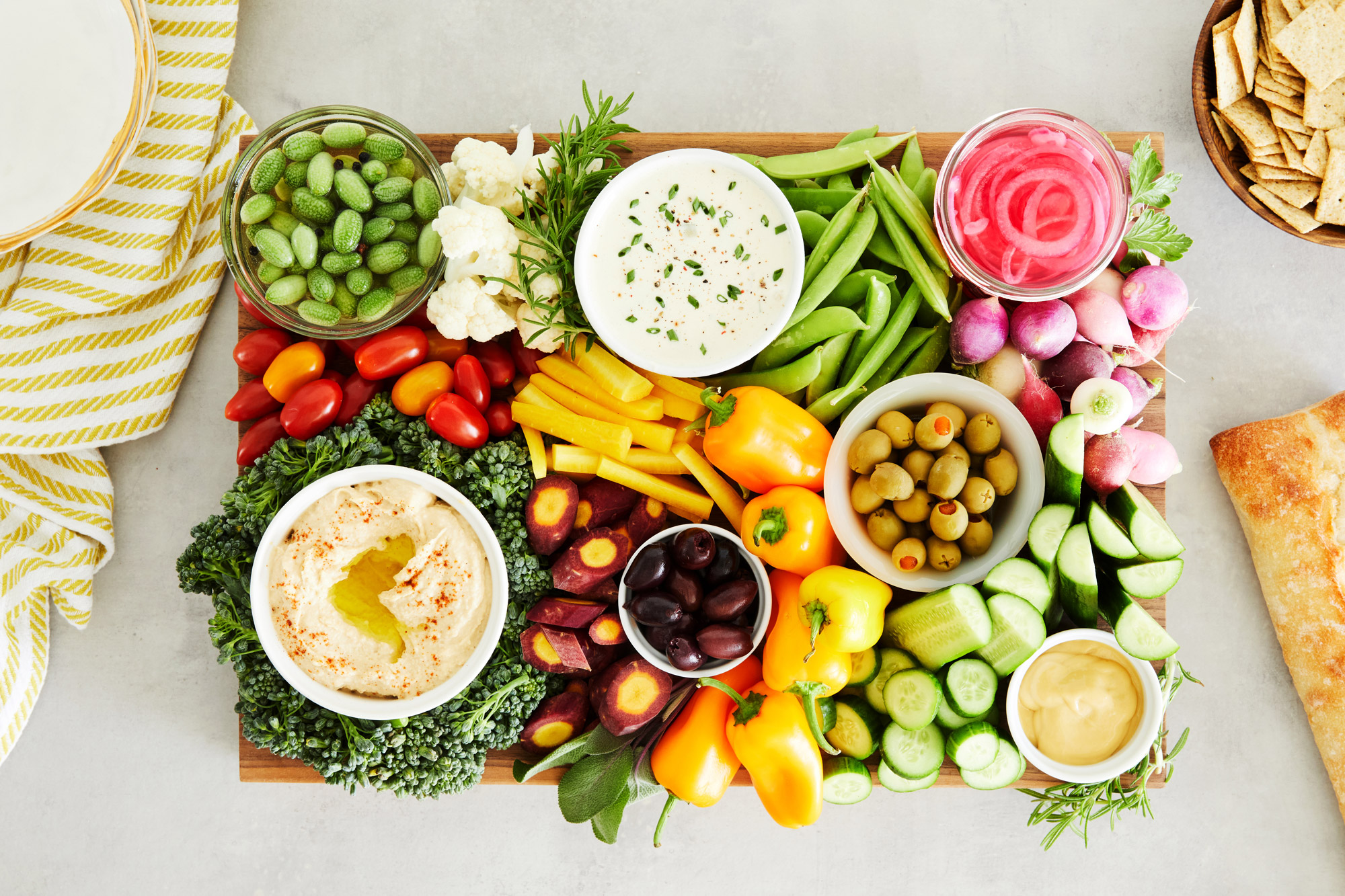 An Epic Crudites And Dips Platter Is The Ultimate Healthy Start Thanksgiving Feast Martha Stewart