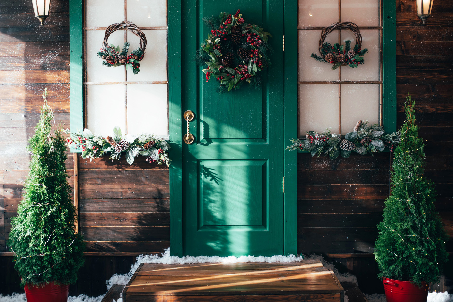 Festive Front Door Decorations Martha Stewart