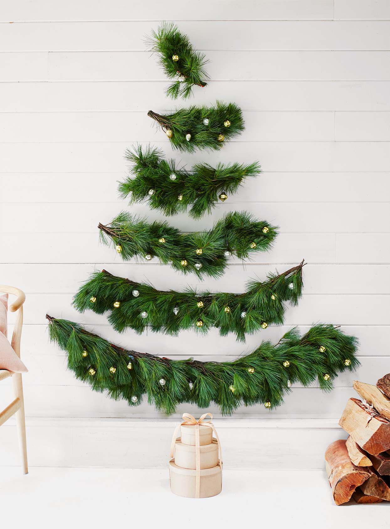 Wall Christmas Tree For Small Spaces Martha Stewart