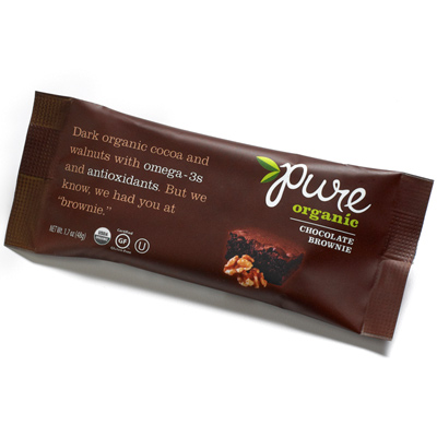 Best Chocolate Nutrition Bar: Pure Organic Chocolate Brownie Bar