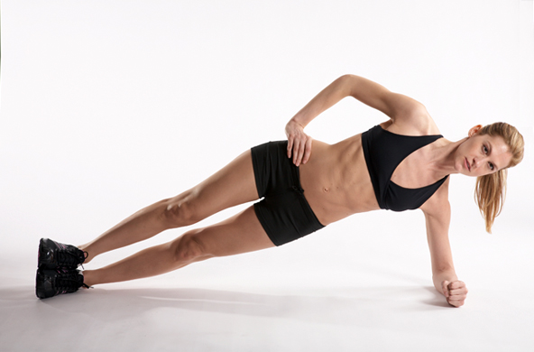side plank exercise to burn fat