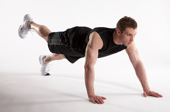 walk-out plank exercise to burn fat