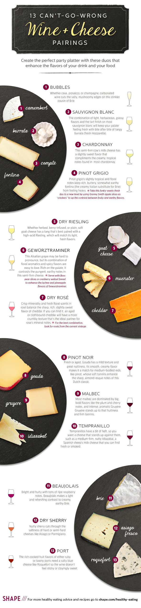 13 Can't-Go-Wrong Wine and Cheese Pairings