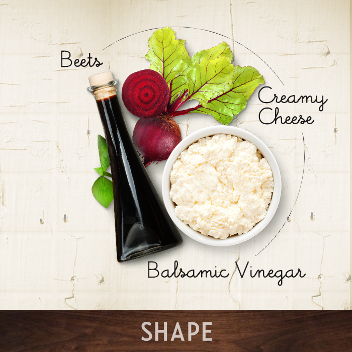 Beets + Creamy Cheese + Balsamic Vinegar