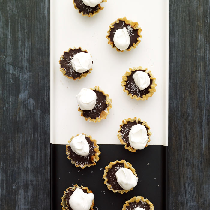 Dark Chocolate and Sea Salt Tartlets