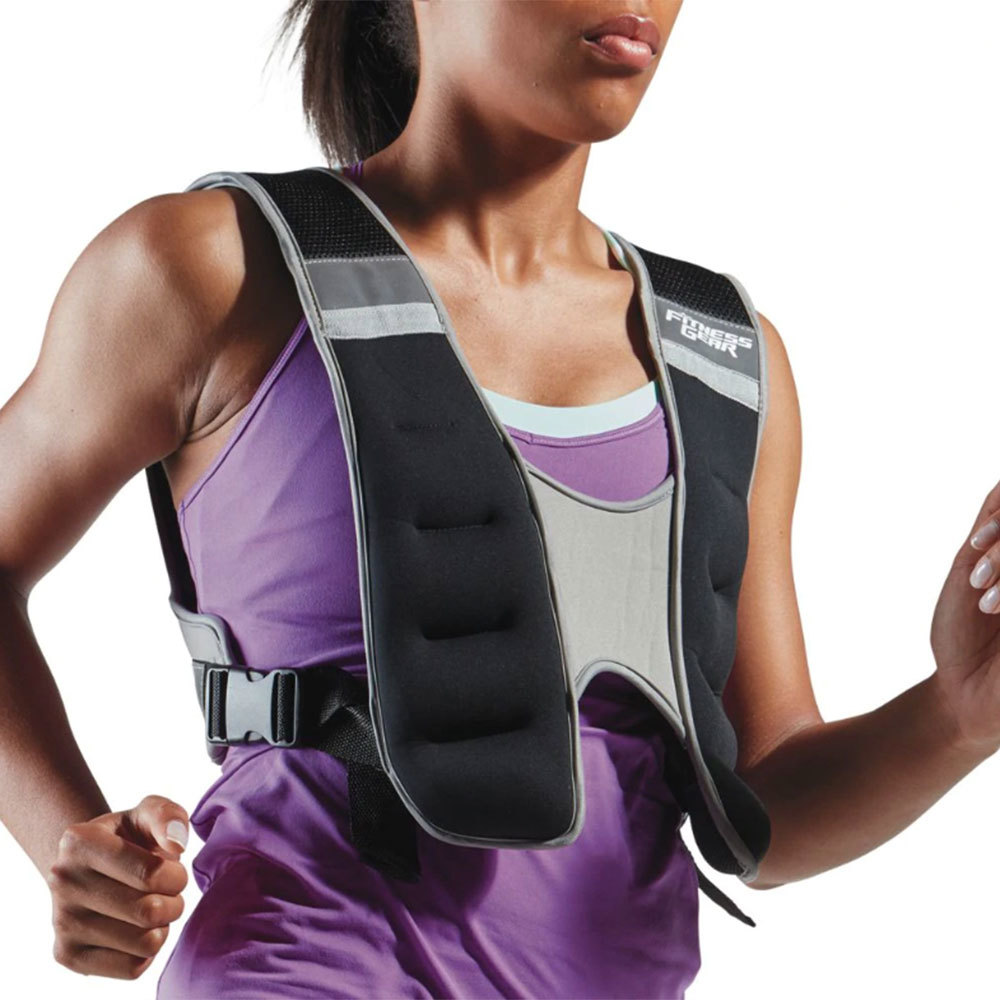fitness gear 10-pound weighted running vest for beginners