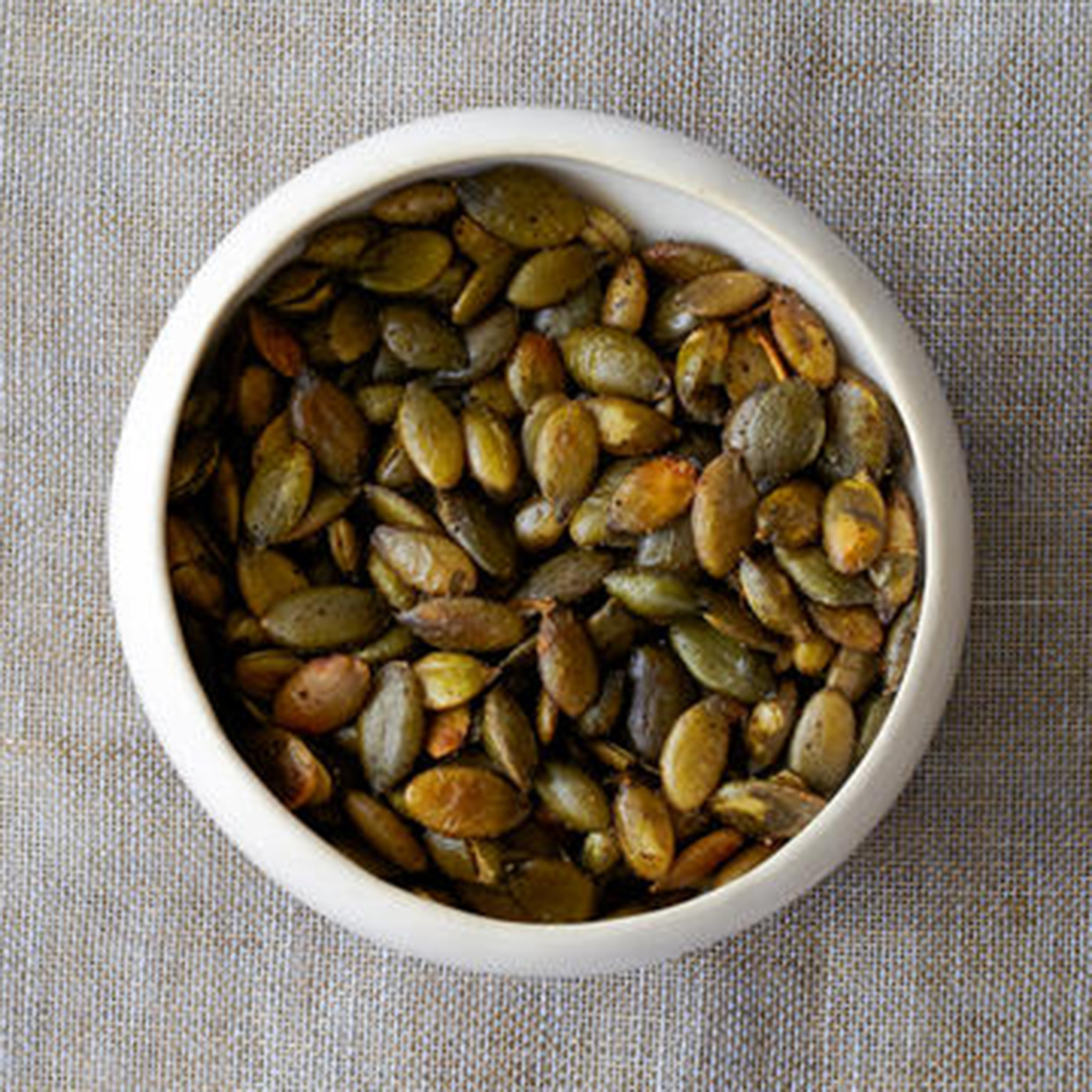 Healthy Snack: Roasted, Lightly Salted Pumpkin Seeds