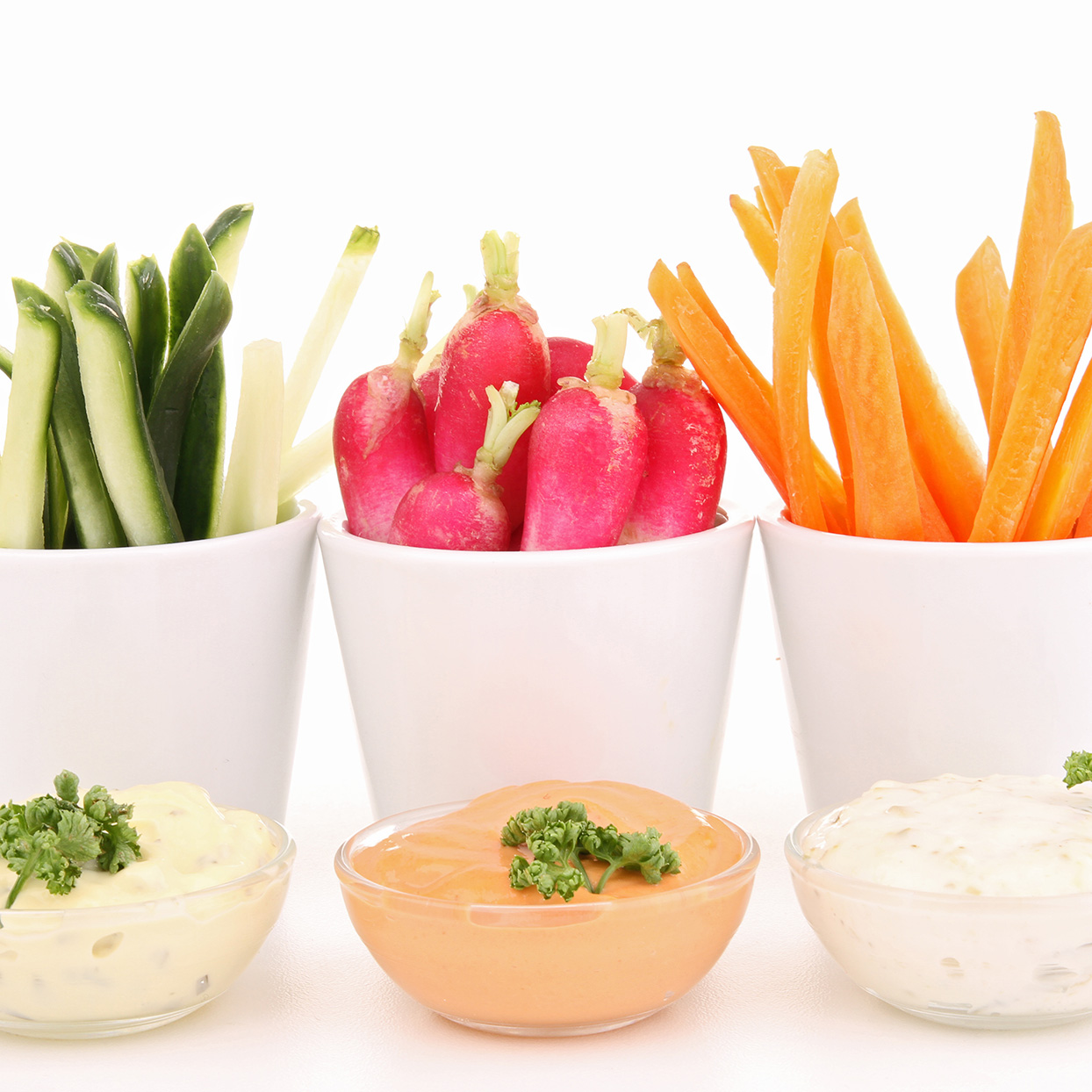 Healthy Snack: Veggies and Dip
