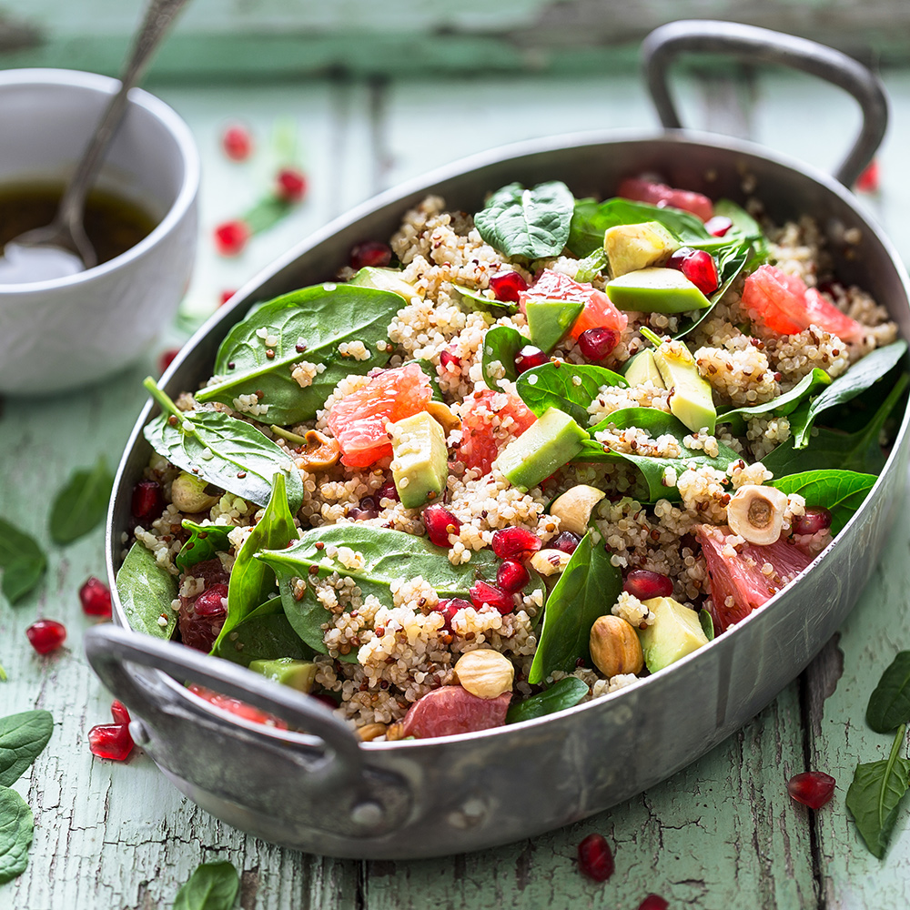quinoa salad good food for healthy skin and hair