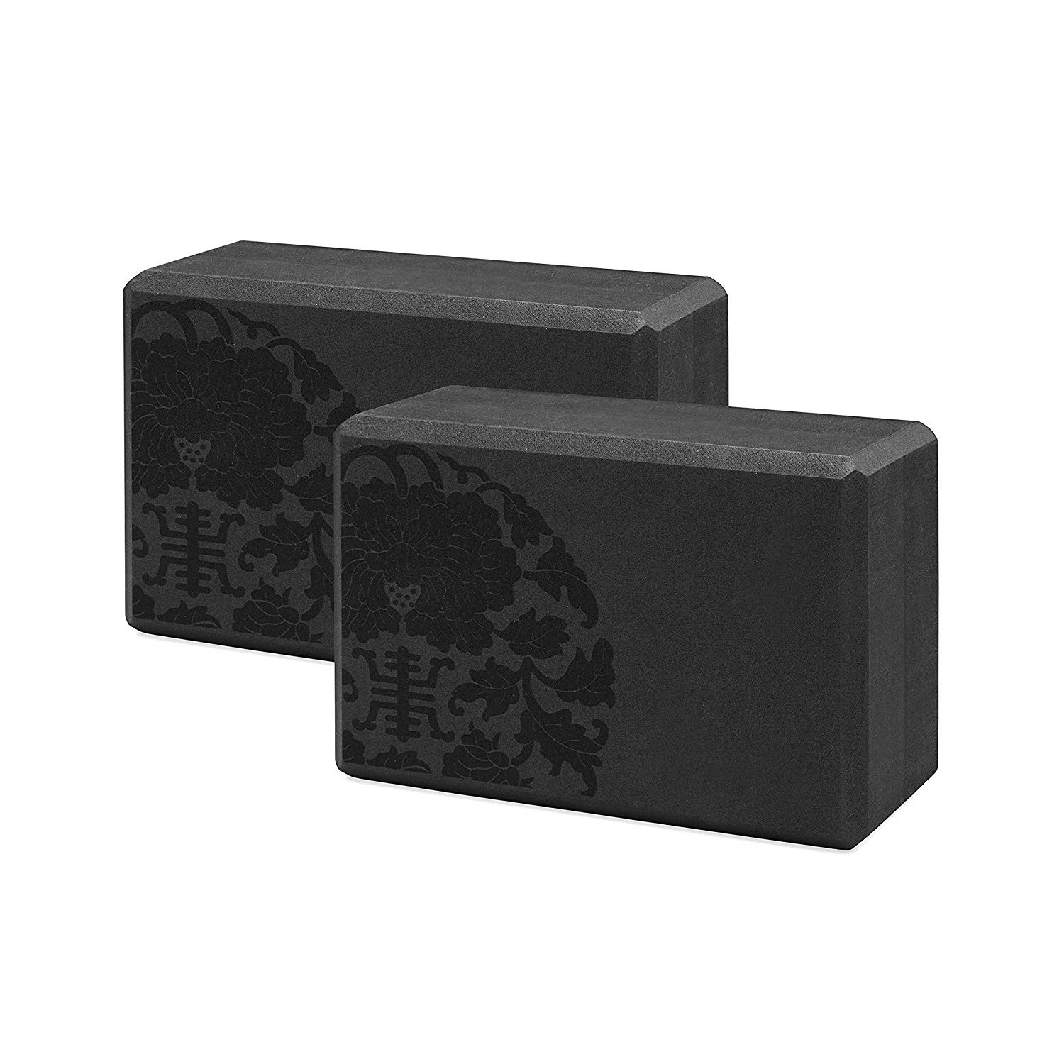 Gaiam Essentials Yoga Black (Set of 2)