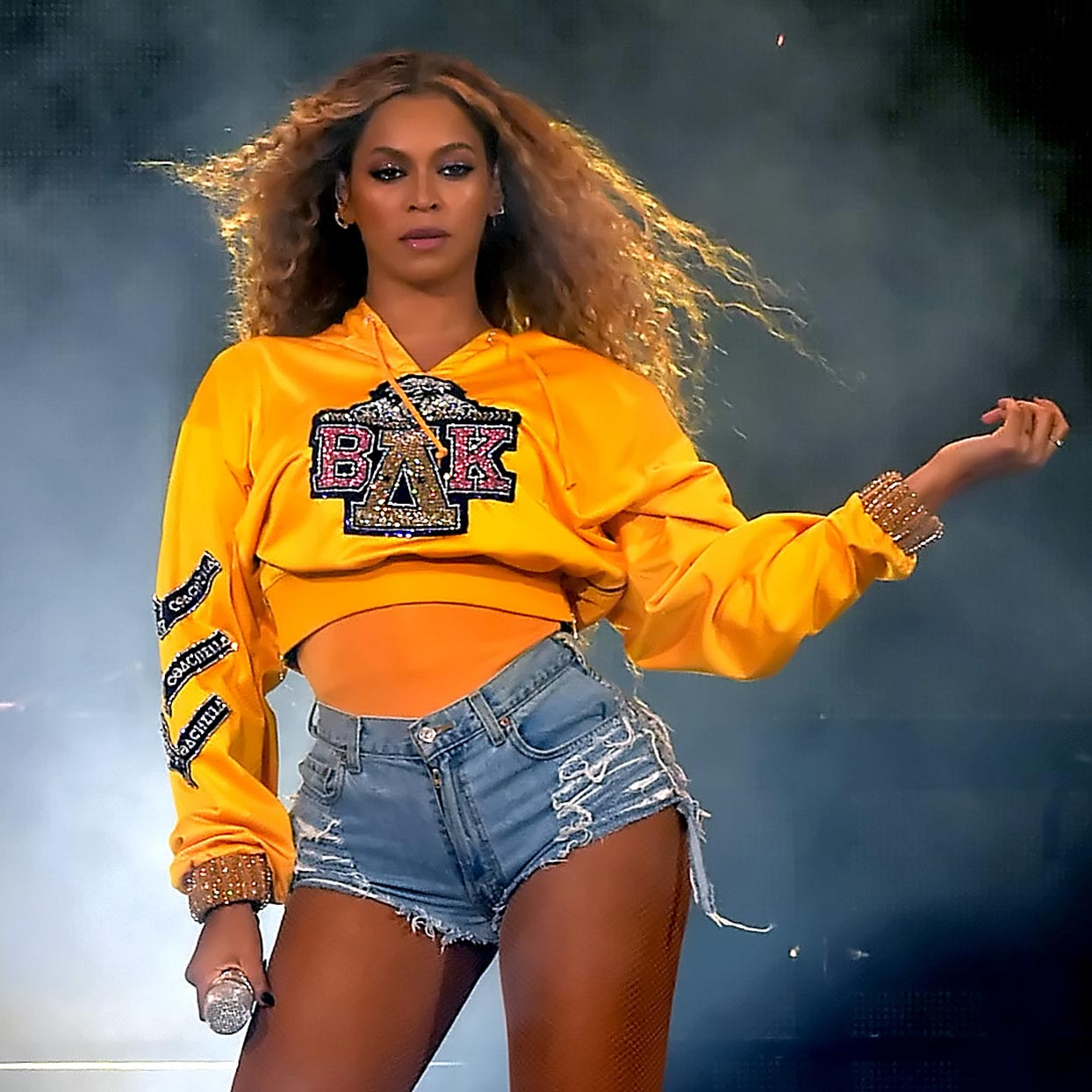 Beyonce Knowles performs onstage during 2018 Coachella Valley Music And Arts Festival Weekend 1 at the Empire Polo Field on April 14, 2018 in Indio, California