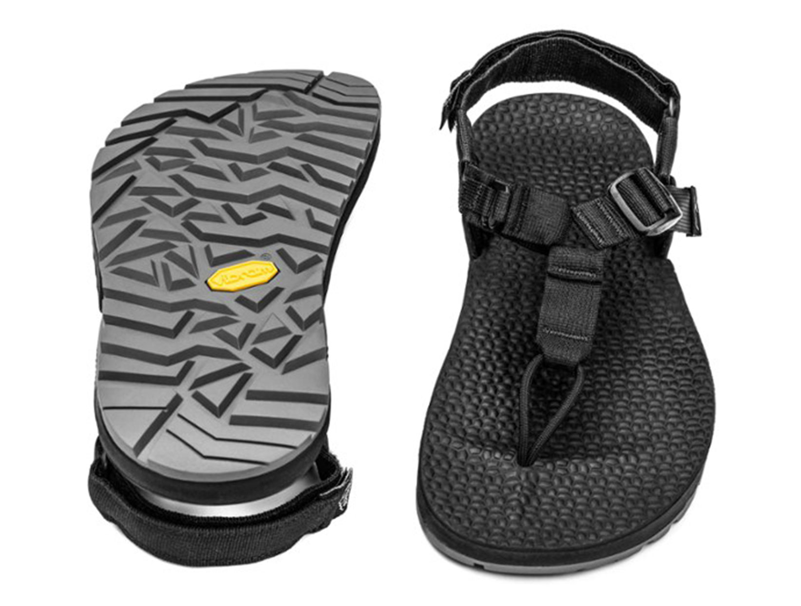 Bedrock's sandals go the distance, literally: These hardy, ultralight hiking sandals are burly enough for some super-weight-conscious thru-hikers to wear for hundreds of miles along the Appalachian and Pacific Crest Trails. Testers who wore Bedrocks around town and on mild trails in the Rocky Mountains say they love the combination of grippy soles with deep treads, uppers that provide support, and minimalist straps that still provide enough security. The thong-style strap system frees your toes and doesn't rub against the sides of your feet in an uncomfortable way.