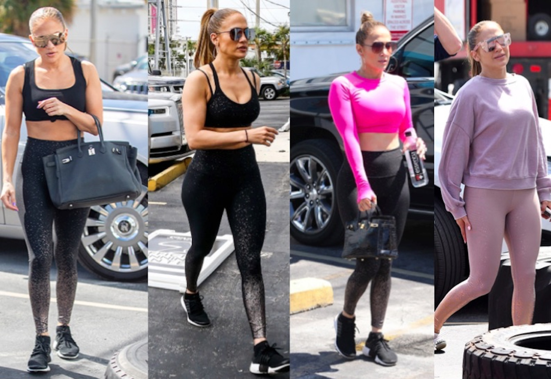 Jennifer Lopez wearing Beyond Yoga leggings