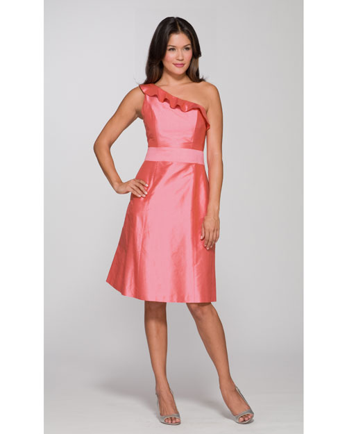 Salmon Asymmetrical Dress
