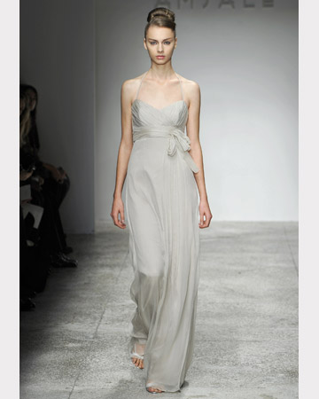 Long, Light Gray Dress