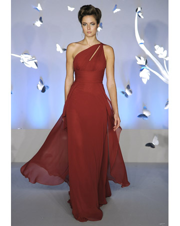 Floor-Length Bridesmaid Dress in Red