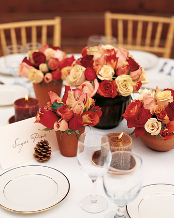 Terra-Cotta Pot Centerpieces