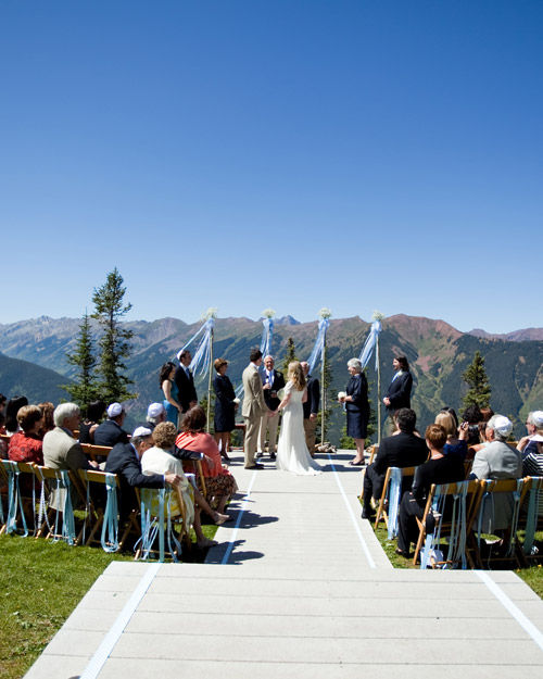 The Little Nell Wedding Deck, Aspen, Colorado