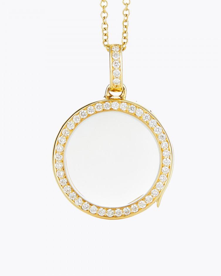 Medium Round Diamond Locket
