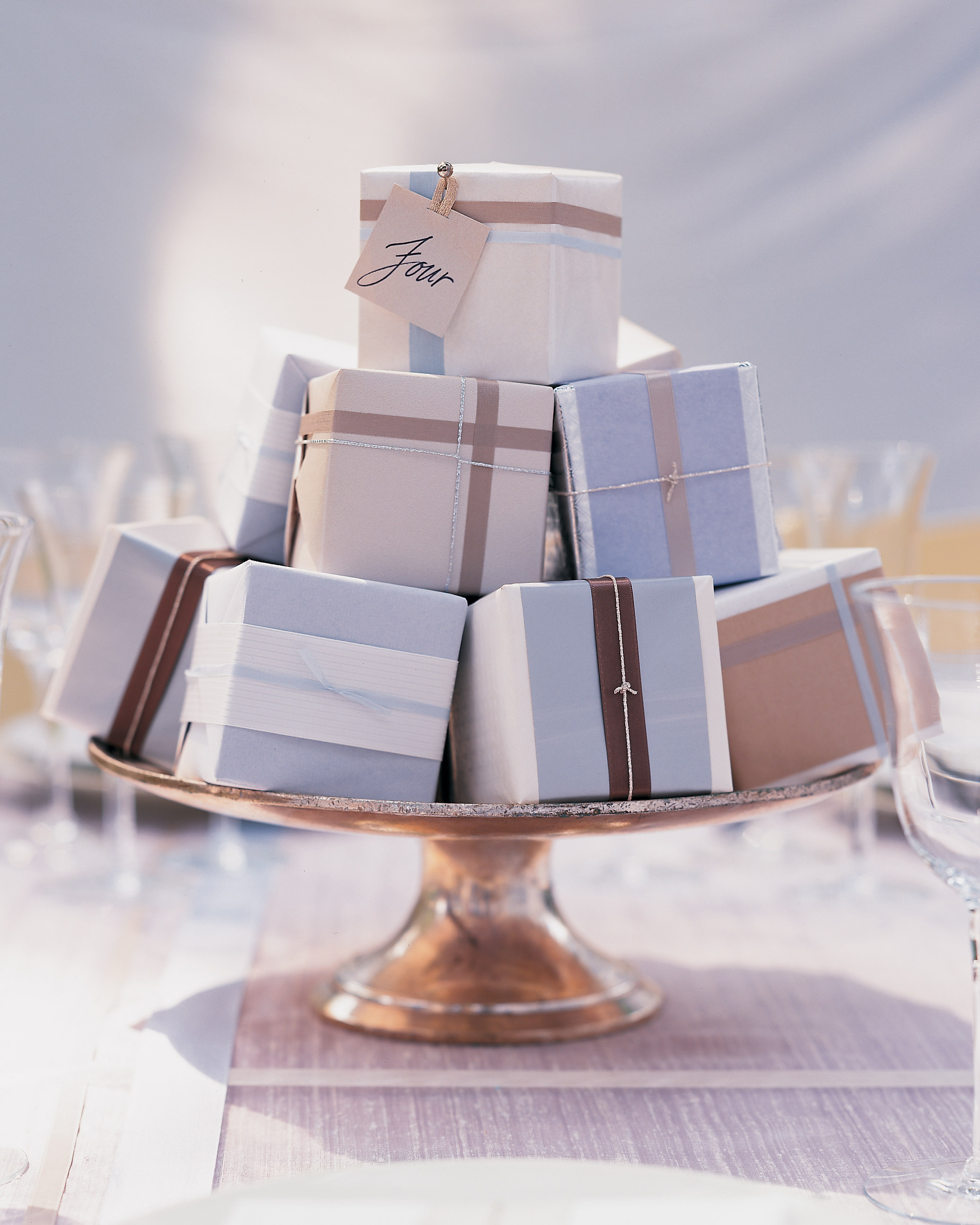 Stacked Favor Centerpiece