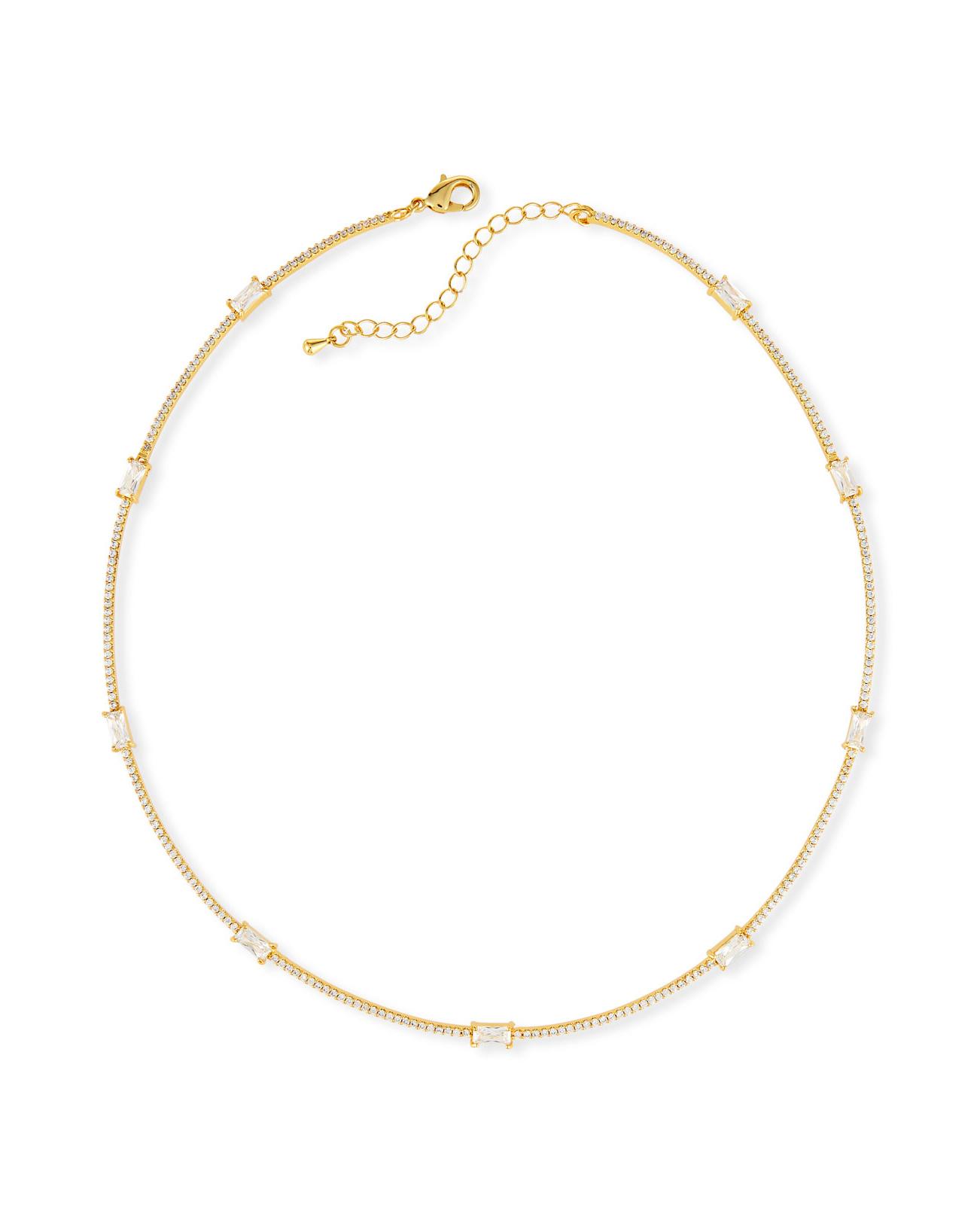Fallon collar necklace baguette crystal necklace