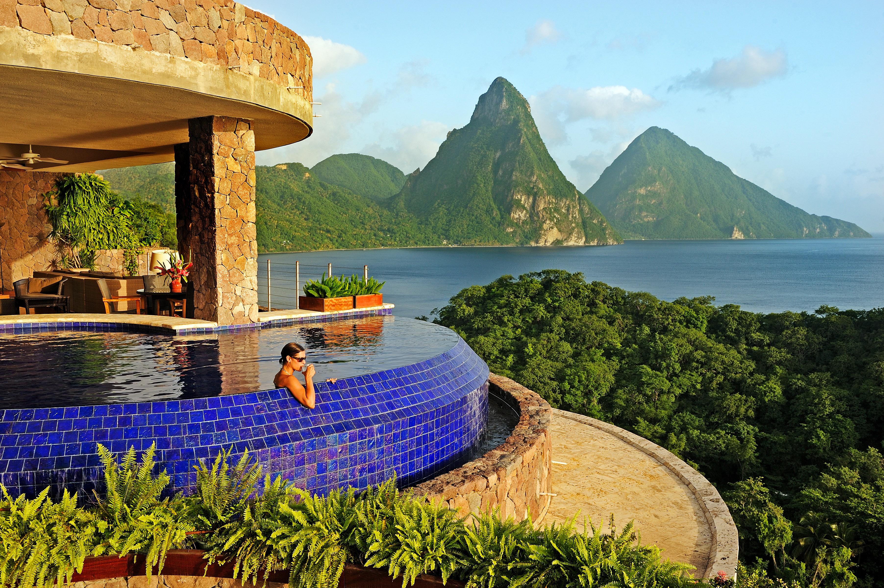 best beach honeymoons jade mountain st lucia