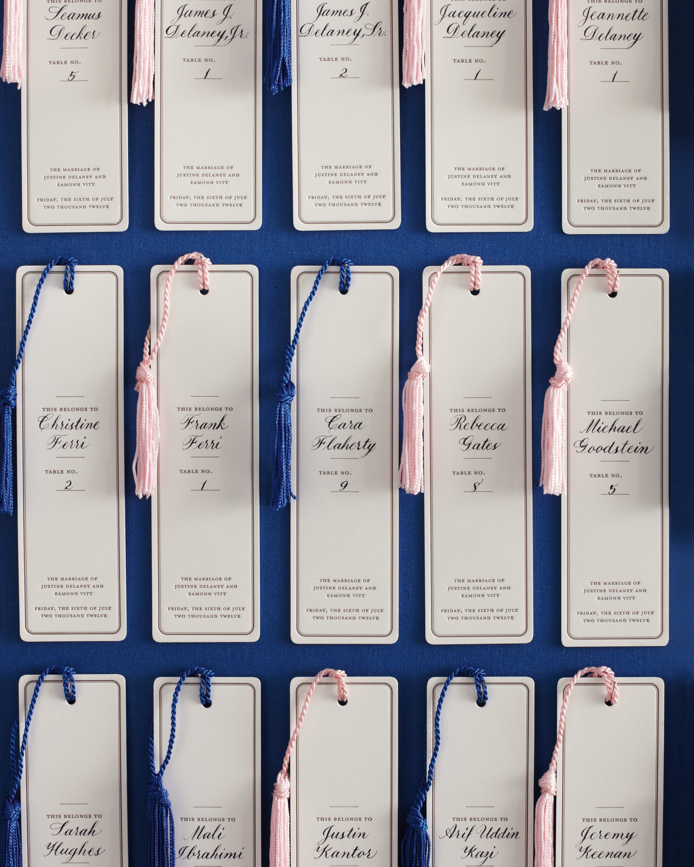 Calligraphed Favors