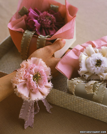 Ribbon Flower Corsage
