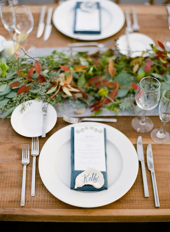 rustic wedding centerpieces garland farm table setting