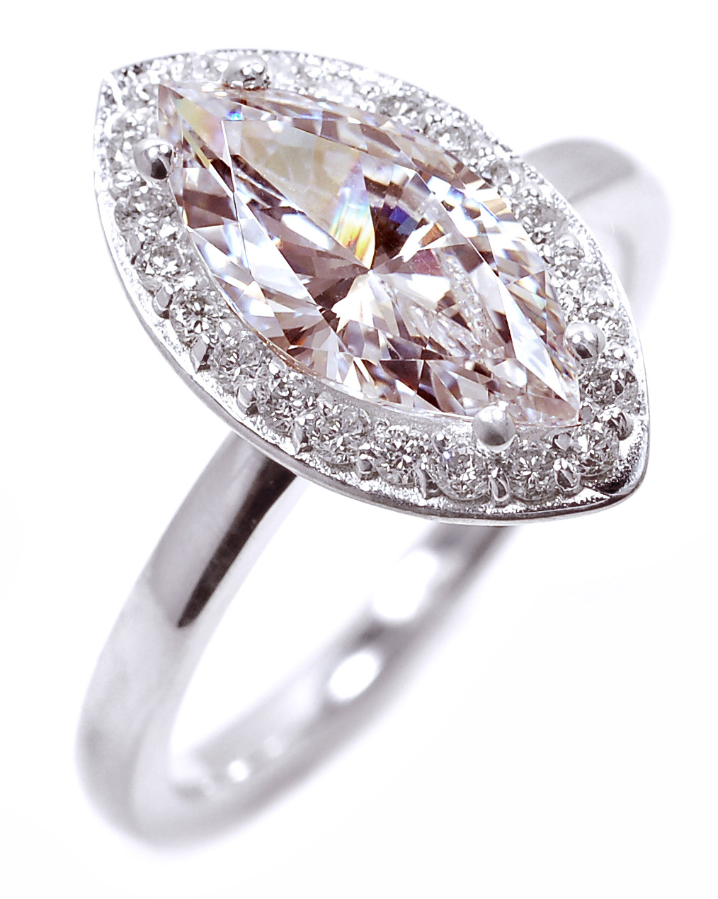 Marquise-Shaped Engagement Ring