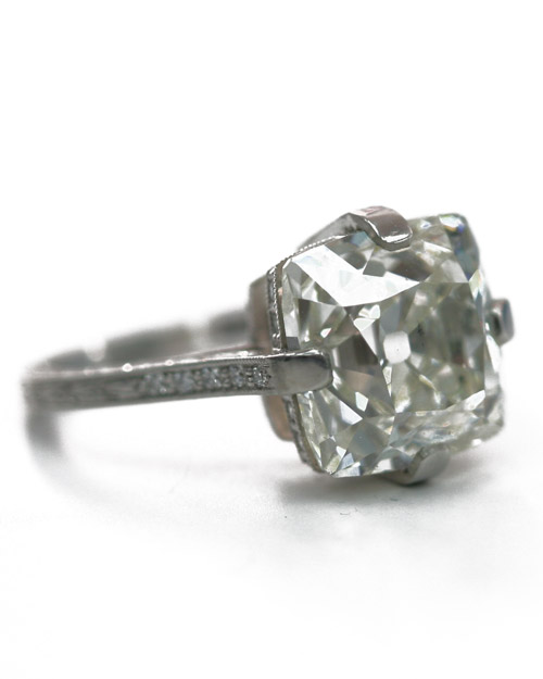 Vintage Cushion-Cut Engagement Ring