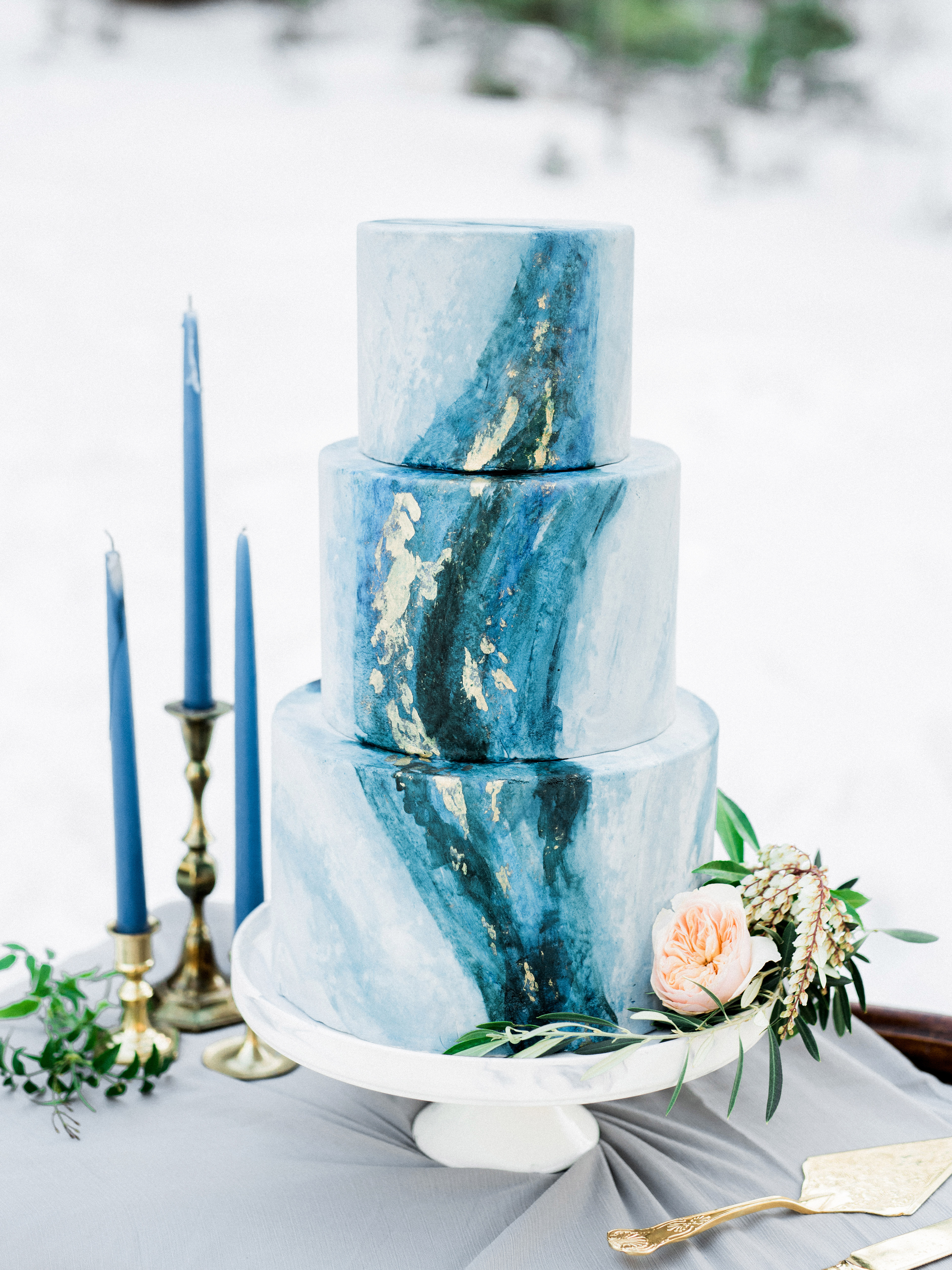 marbled cake blue