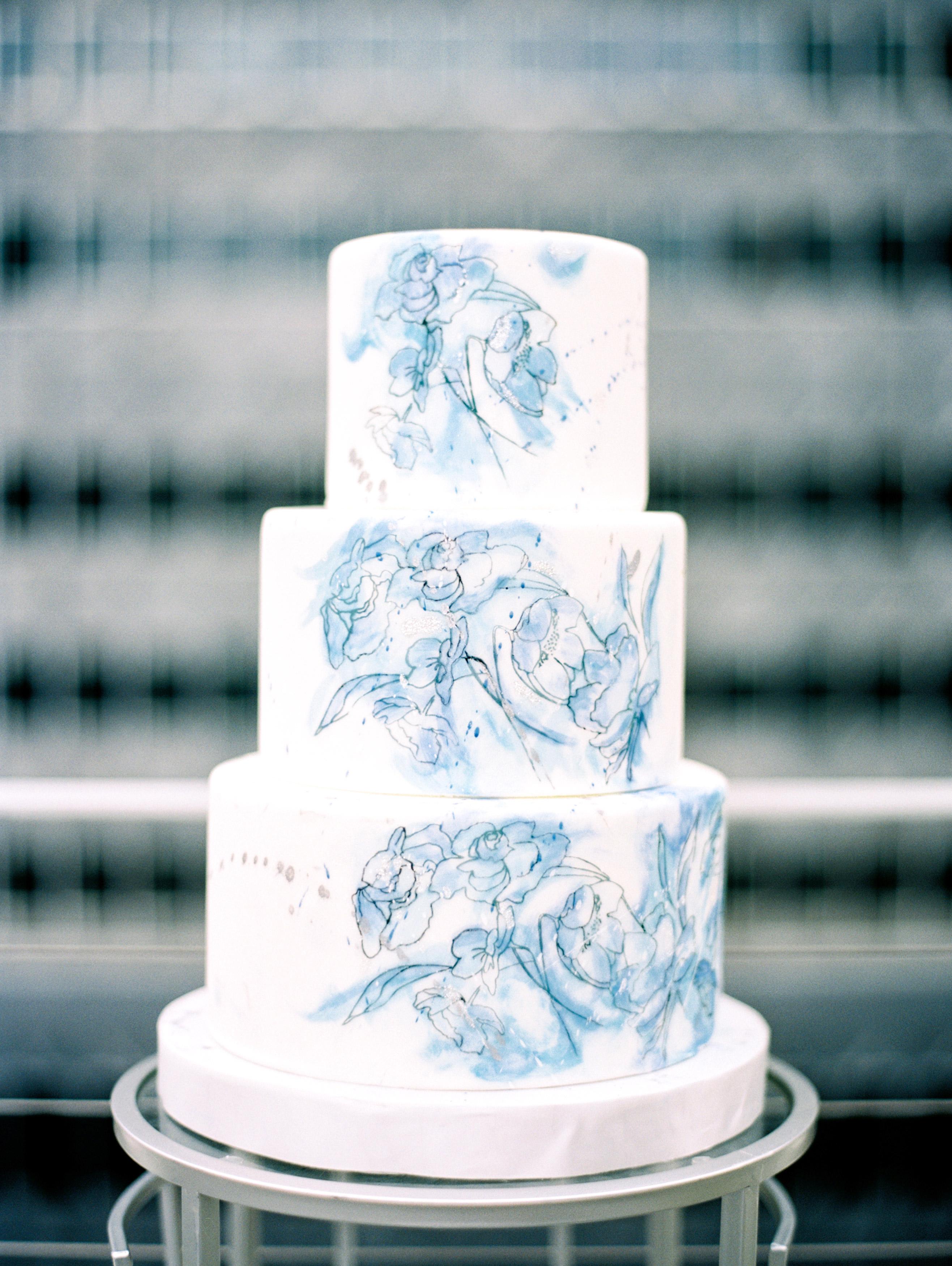 white painted cake
