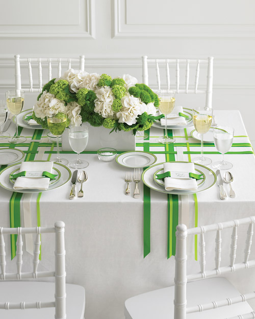 Wedding Colors: Green and White