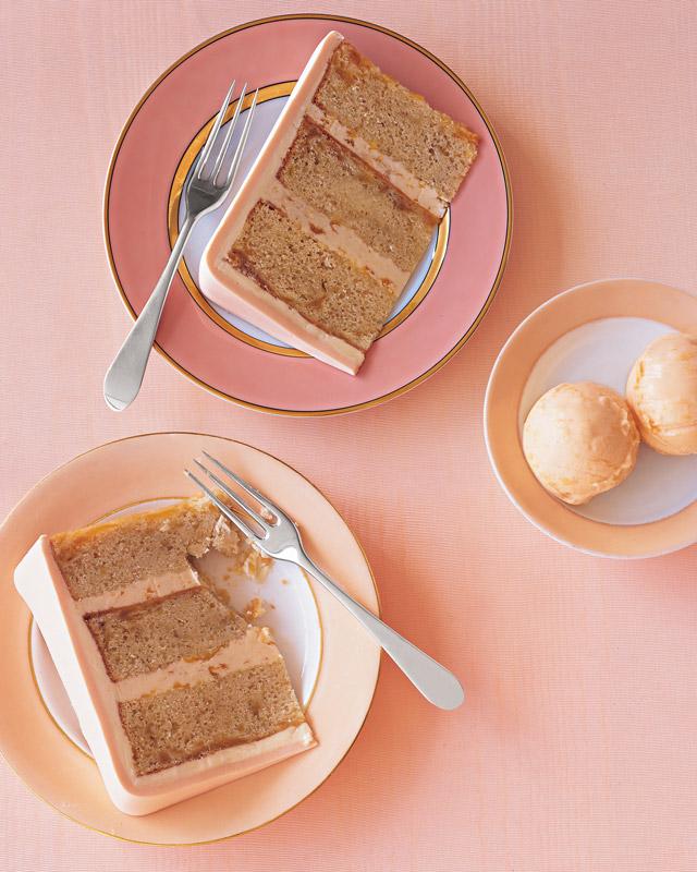 Peaches-and-Cream Ice Cream