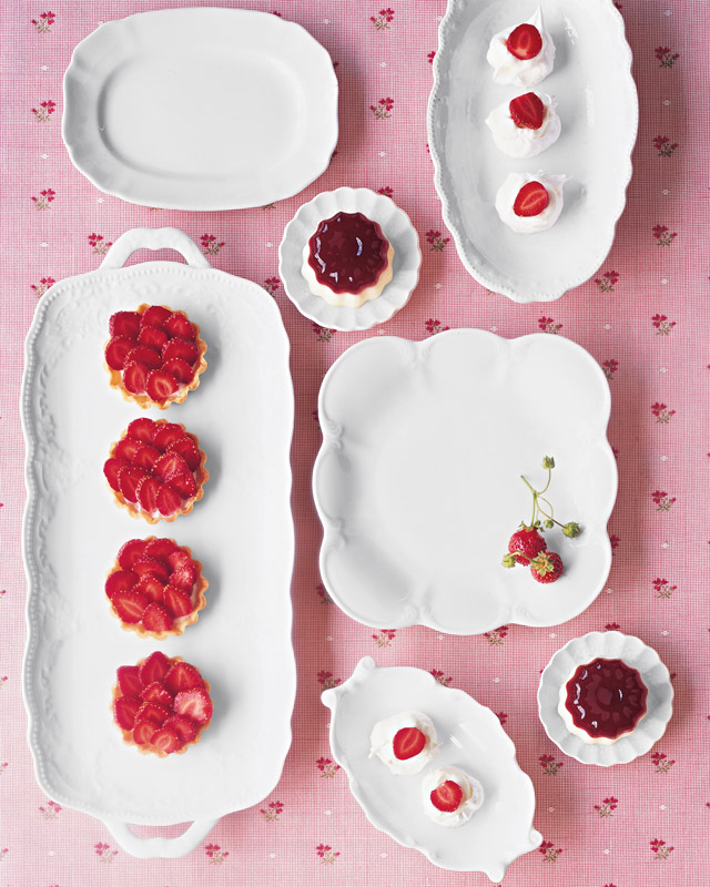 Panna Cotta and Strawberry Jellies