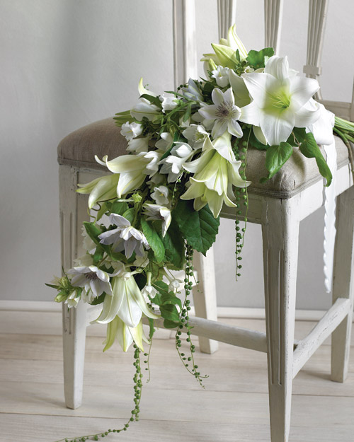 Easter Lilies Wedding Bouquet