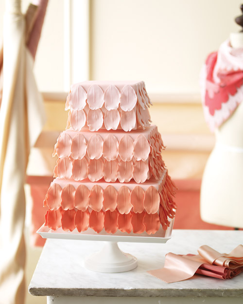 Ombre Wedding Cake with Gum Paste Petals