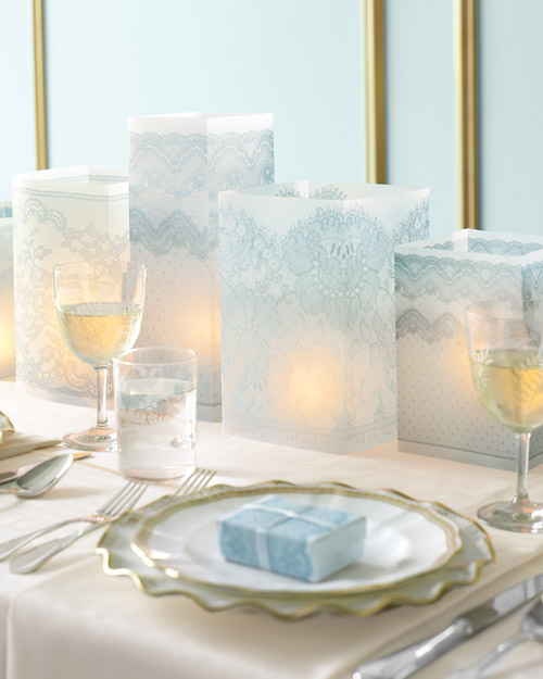 Lace Wedding Luminarias