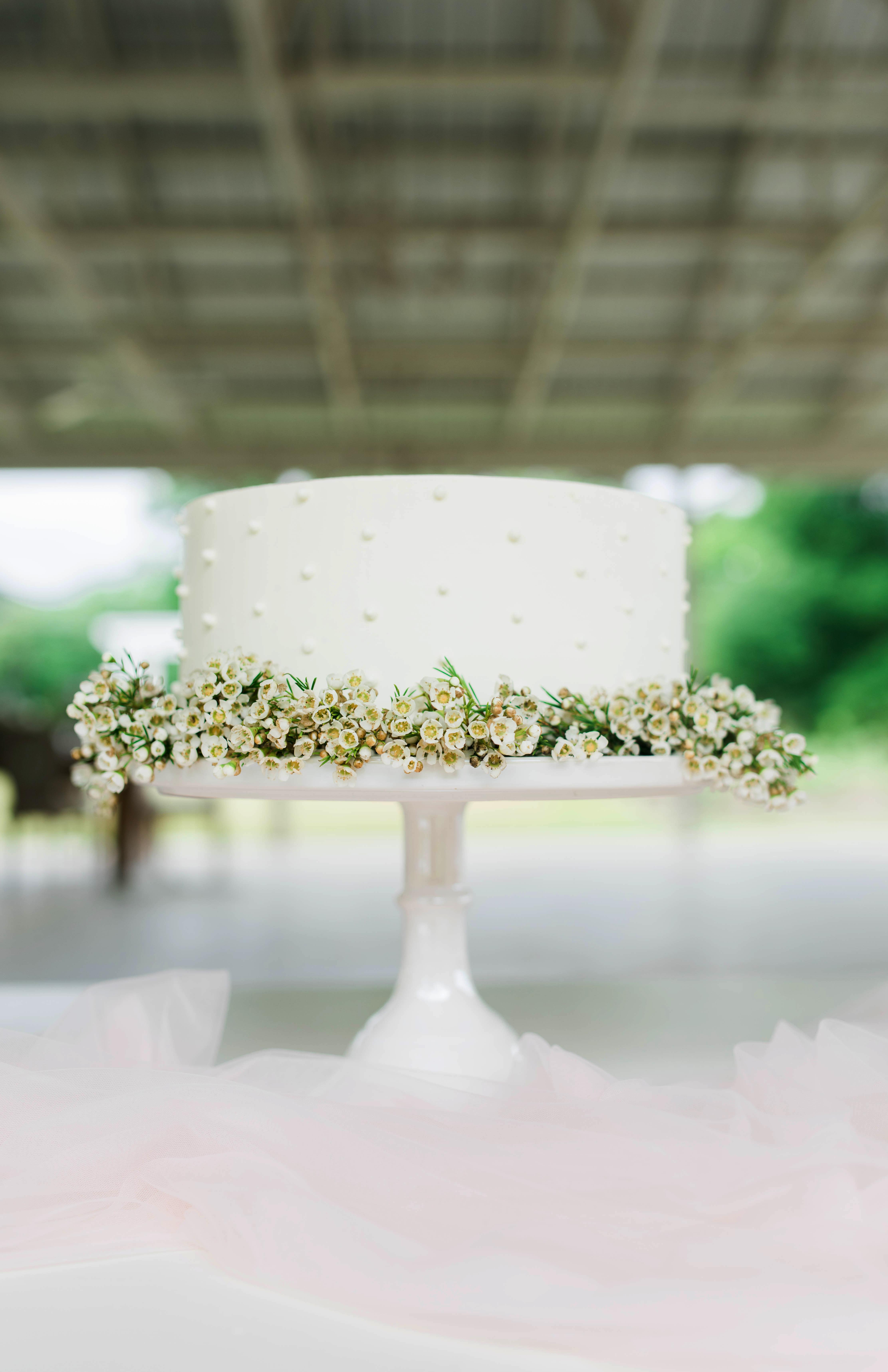 floral wedding cakes kaley elaine outdoors simple white greenery