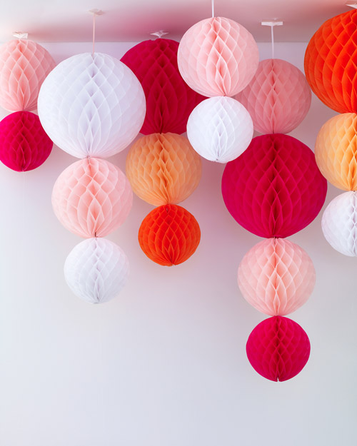 Paper Hanging Globe Decorations