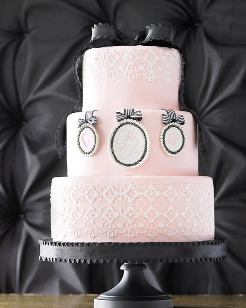 Brown-Sugar Marble Wedding Cake