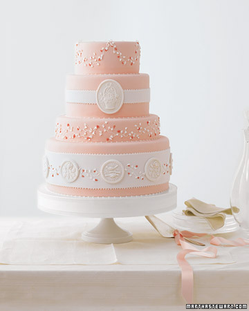 Wedding Cake with Molded Medallions