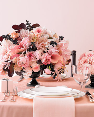 Pink Rose Wedding Centerpiece