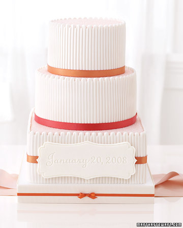 Wedding Cake with Embossed Fondant